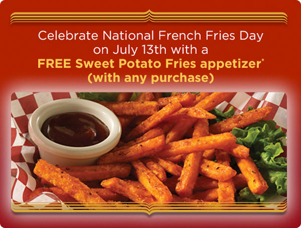 Free Sweet Potato Fries July 13