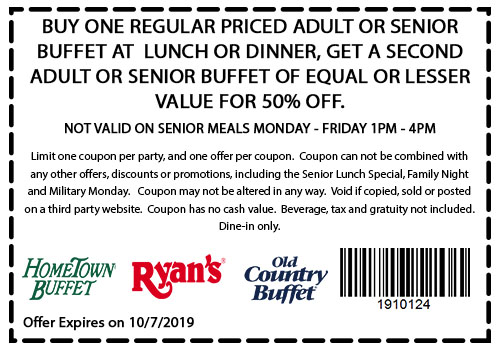HomeTown Buffet Coupon